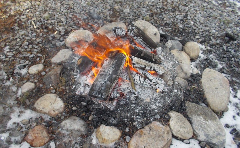 Camp fires – an outdoor essential, and how old PlaidCamper likes to play with matches…