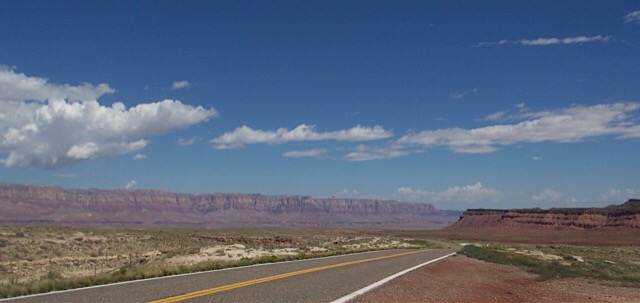 Route 89 and 89A – north from Flagstaff, AZ to somewhere inUtah
