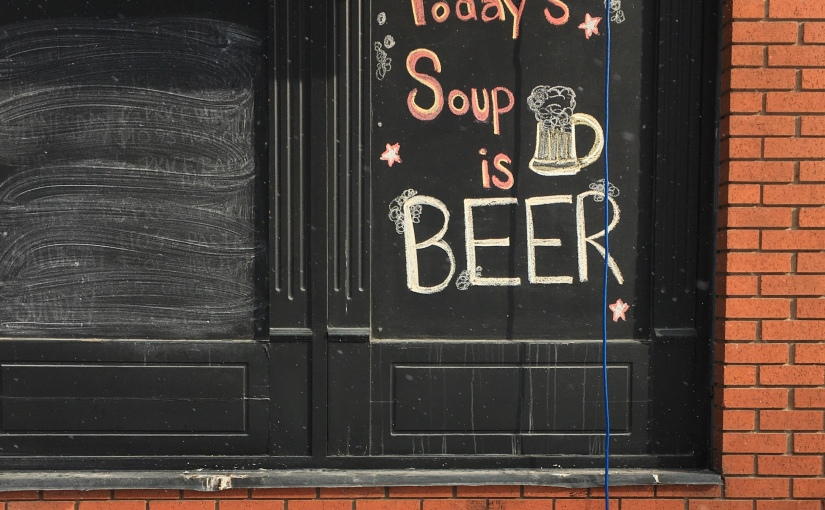 Today's soup is…